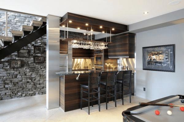 Basement bar wall decor