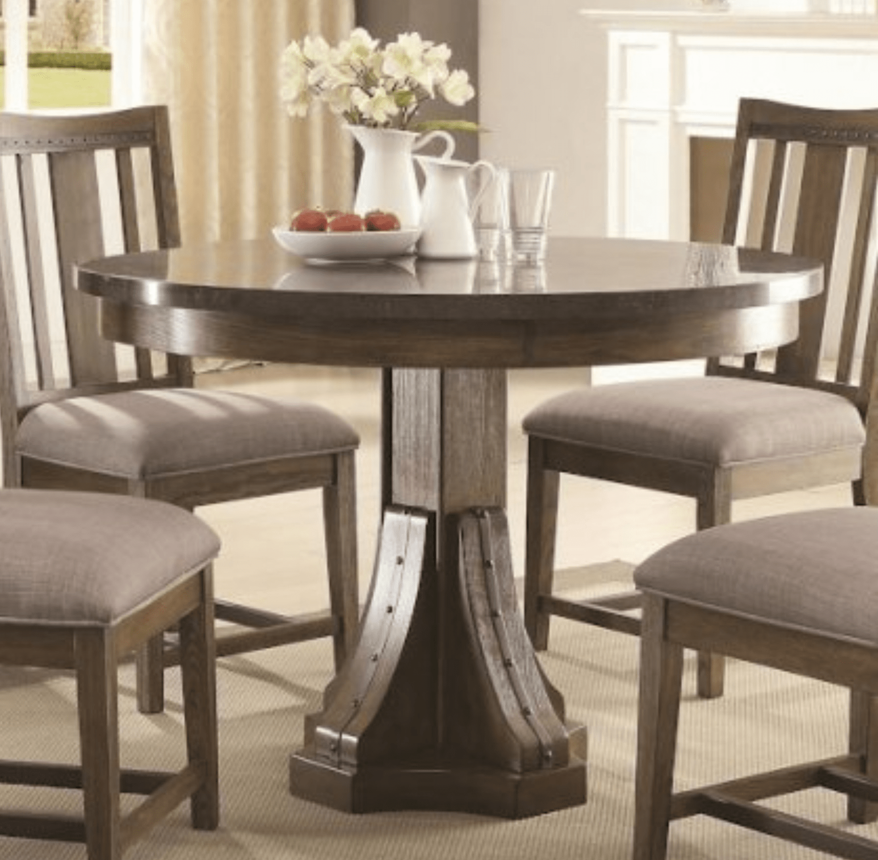 Bluestone round dining table