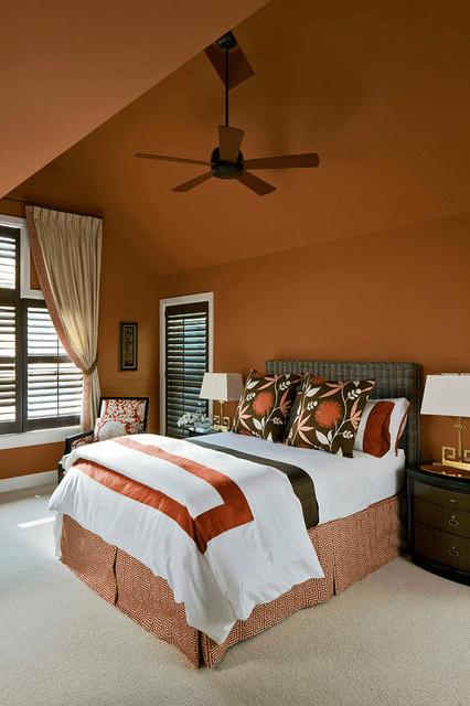 Caramel wall color bedrooms Romantic decorations