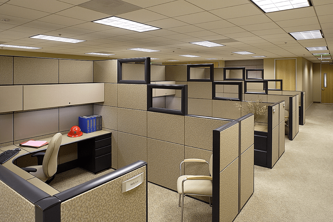 Cubicle walls with windows
