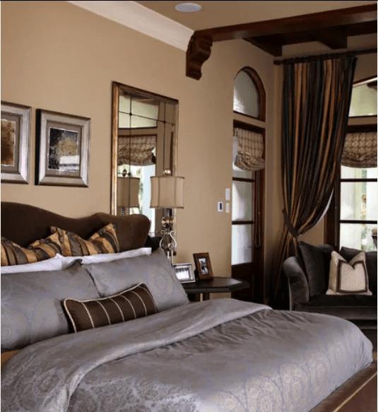 Dark brown master bedroom paint color romantic