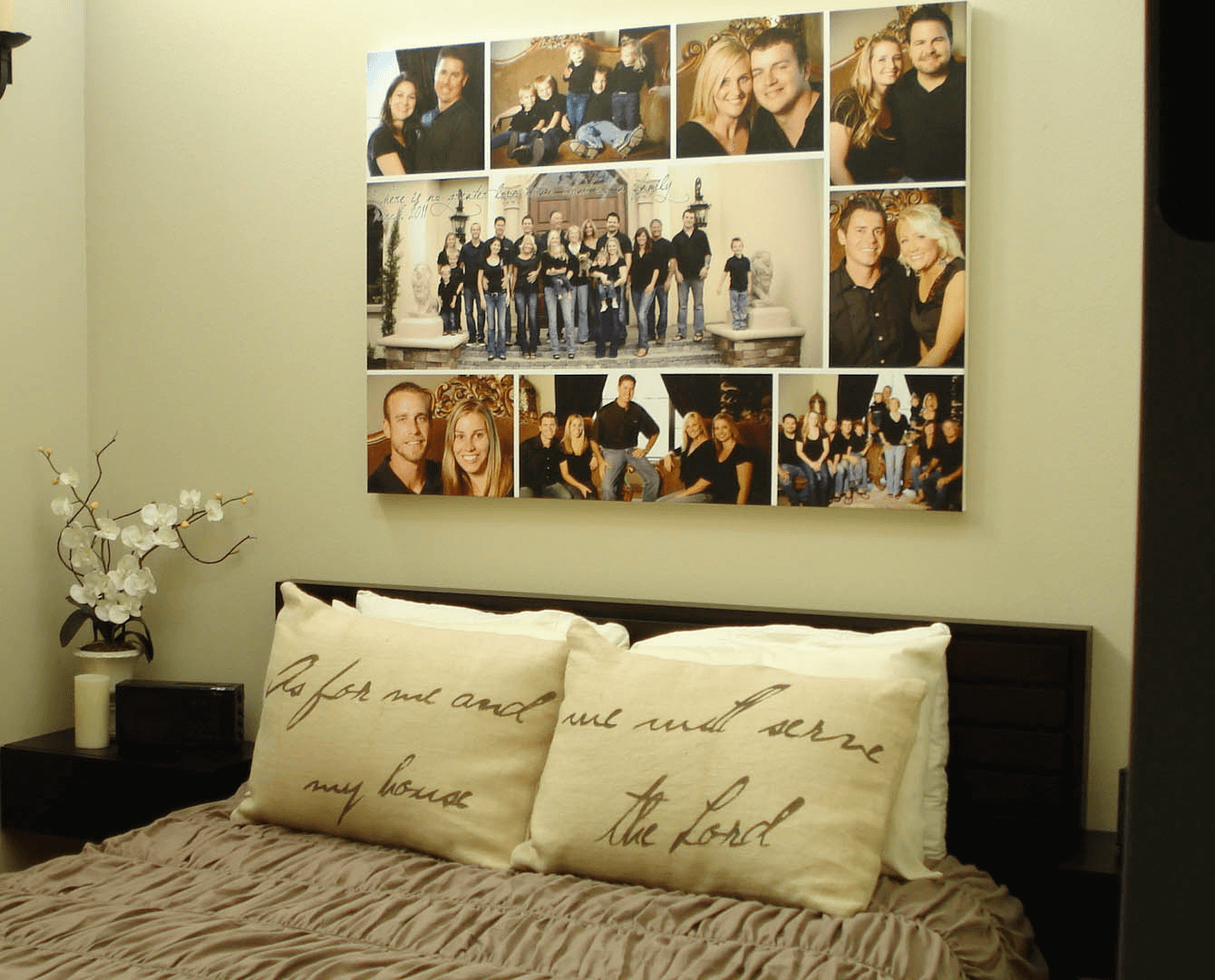 Family picture bedroom wall decor ideas