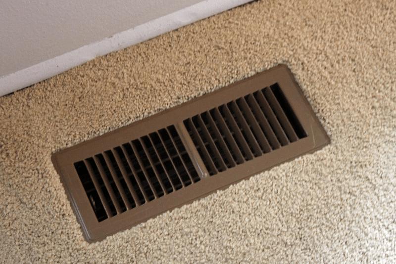 Floor heater vents