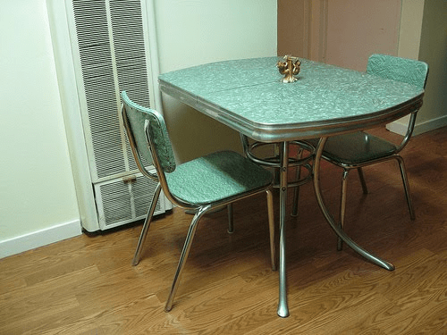 Formica top table and chairs