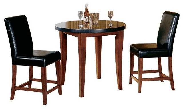 Granite top pub table and chairs