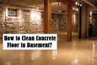 How to clean concrete floor in basement
