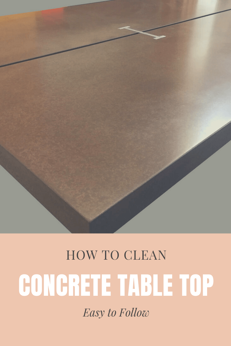 How to clean concrete table top easy to follow