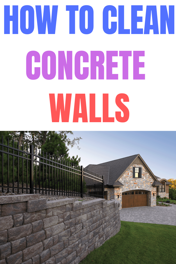 How to clean concrete walls