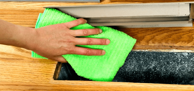 How to clean floor vent covers