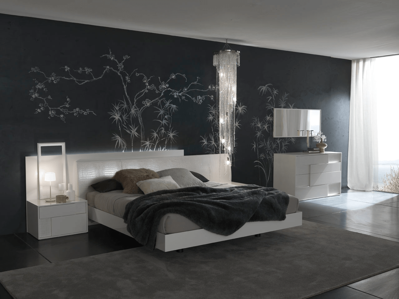 How to decorate grey bedroom