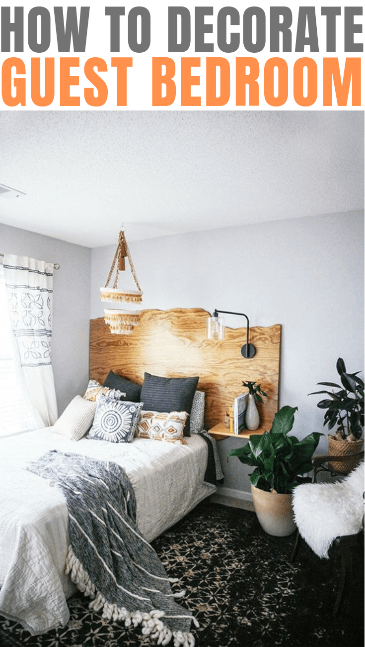 How to decorate guest bedroom ON BUDGET