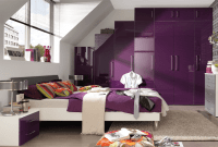 How to decorate purple bedroom
