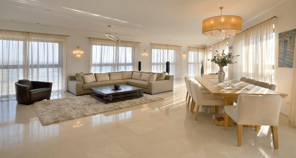 How to clean marble floor stains for Dining room tile floor designs