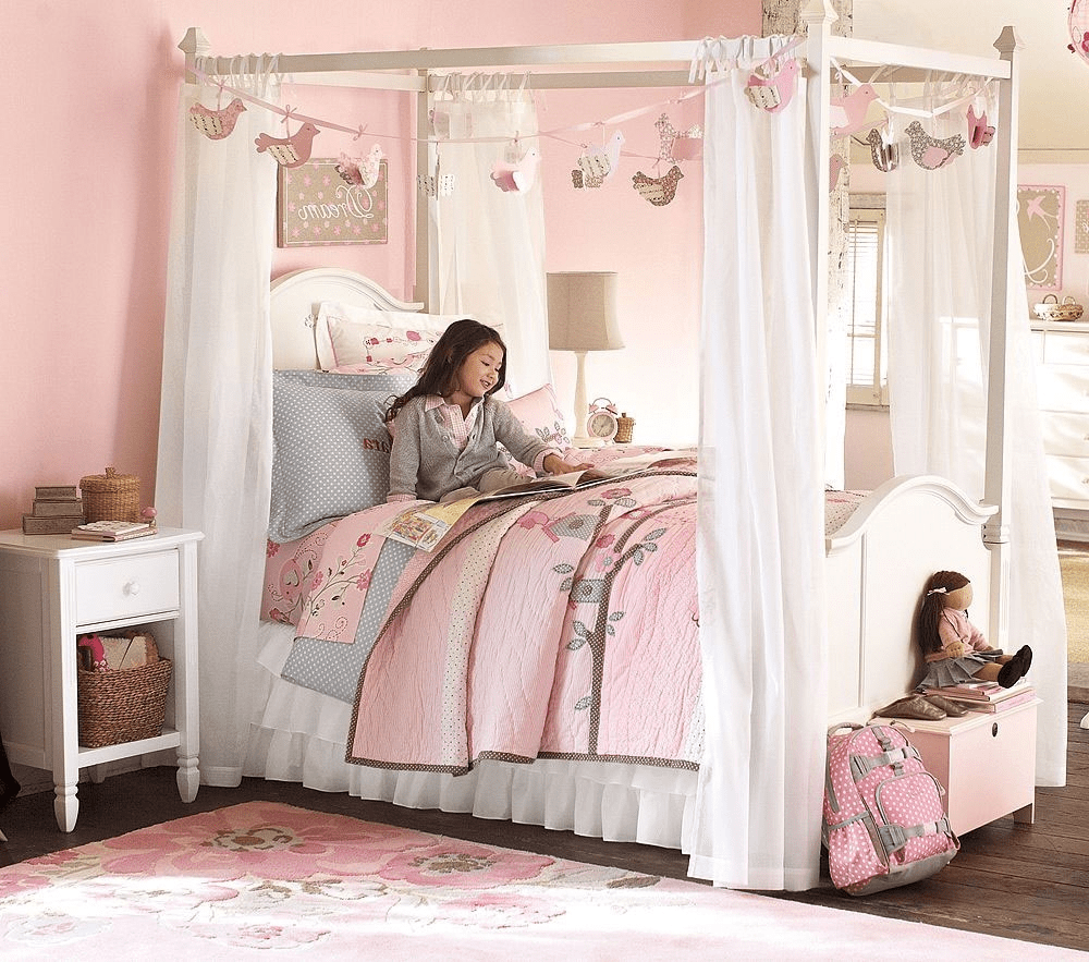 modern canopy bedroom sets for teenage girls room image