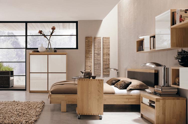 Natural color bedroom furniture