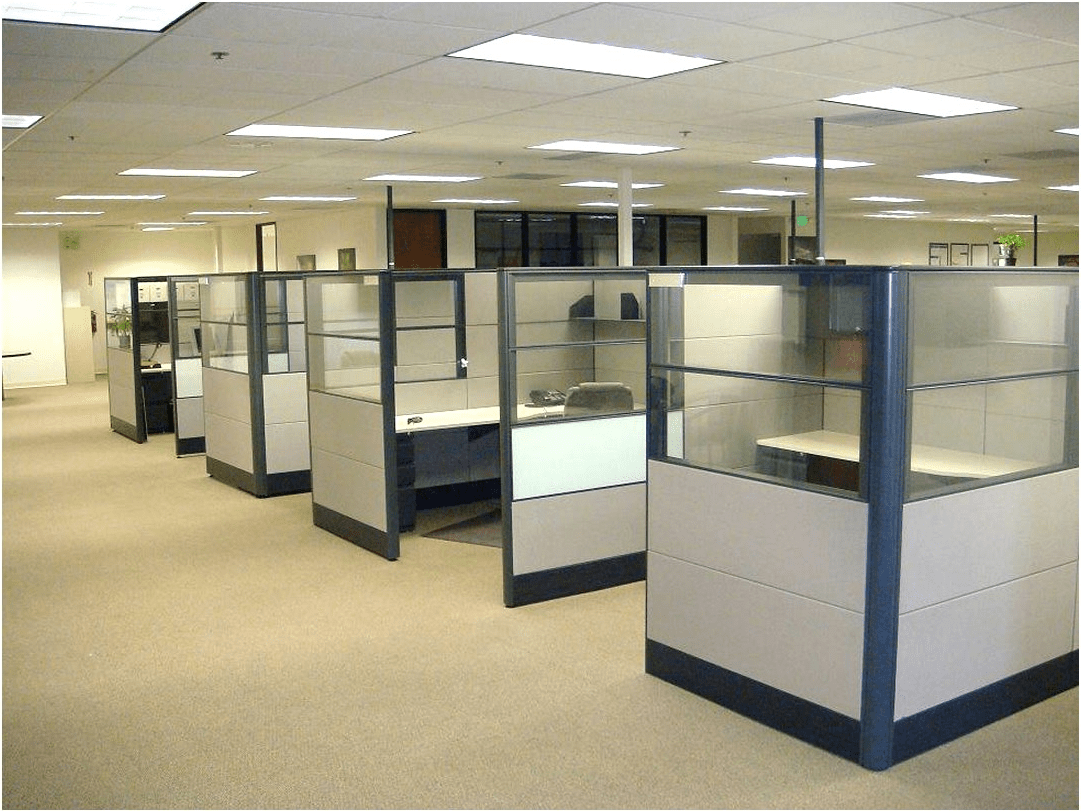 Office cubicle partition walls