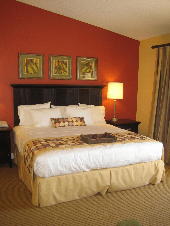 Orange bedroom decor ideas