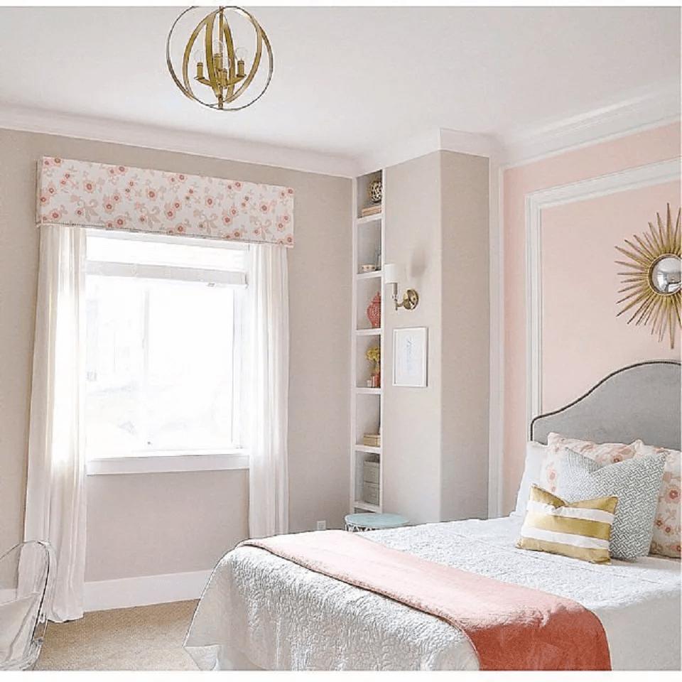 Pastel color master bedroom romantic