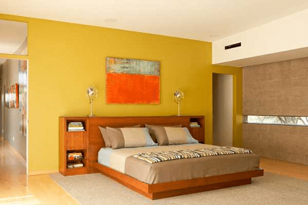 Red orange and yellow bedroom ideas