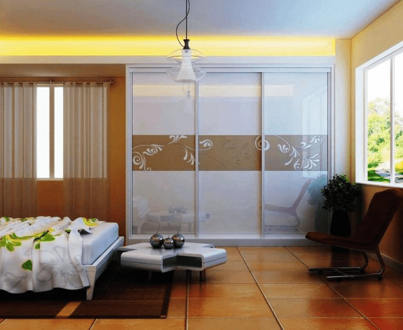 Sliding door design for bedroom