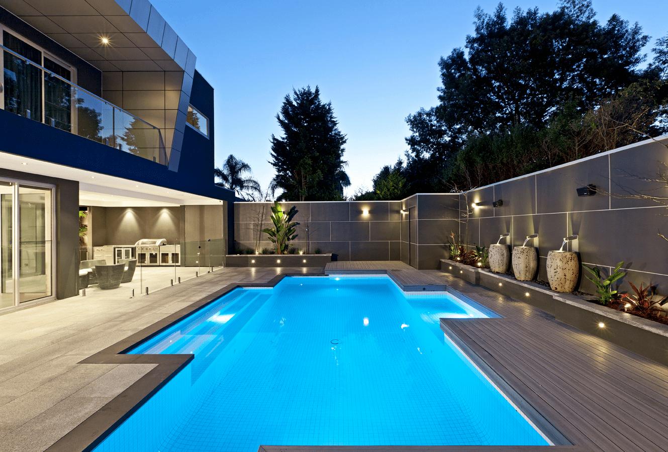Swimming pool wall decor