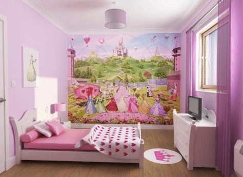 Wallpaper for a teenage girl's bedroom