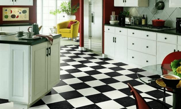 vinegar to clean black and white tile floors kitchen