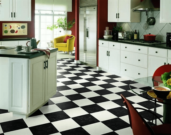 vinegar to clean black and white tile floors kitchen