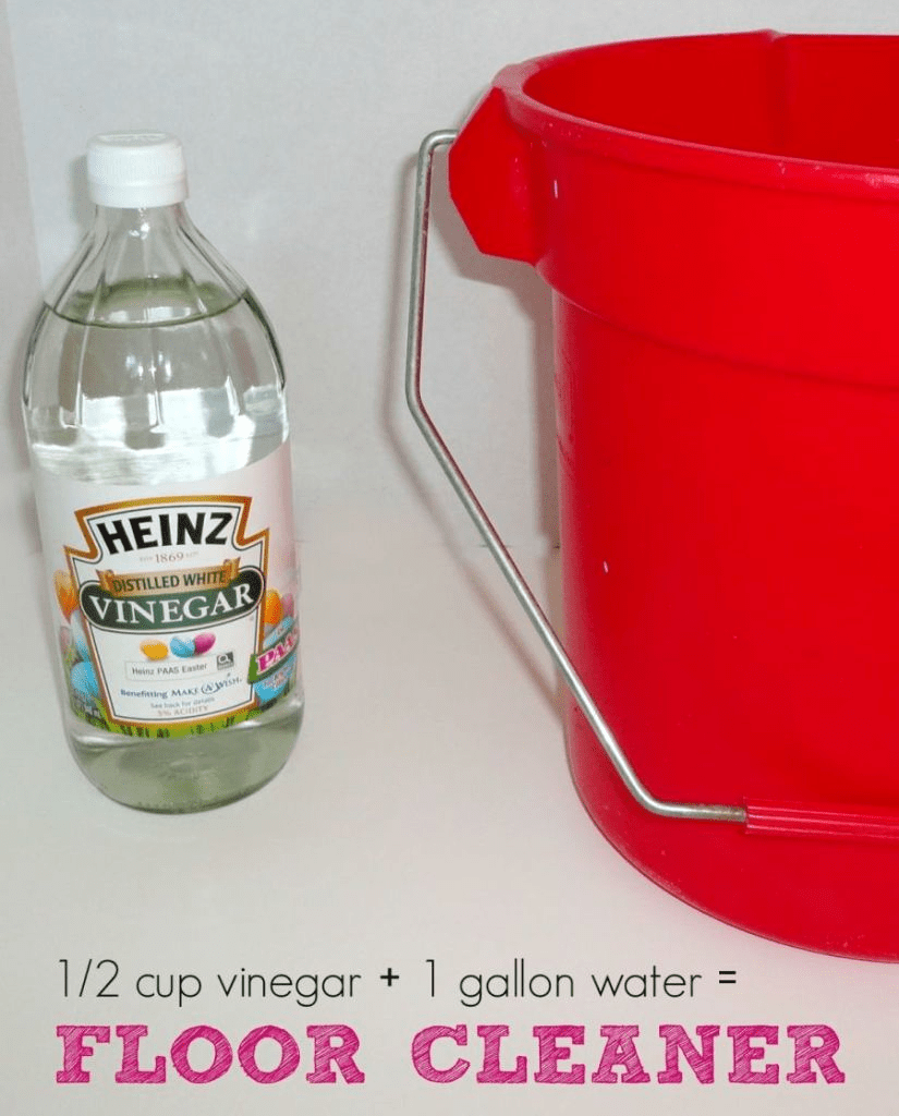 white vinegar floor cleaner