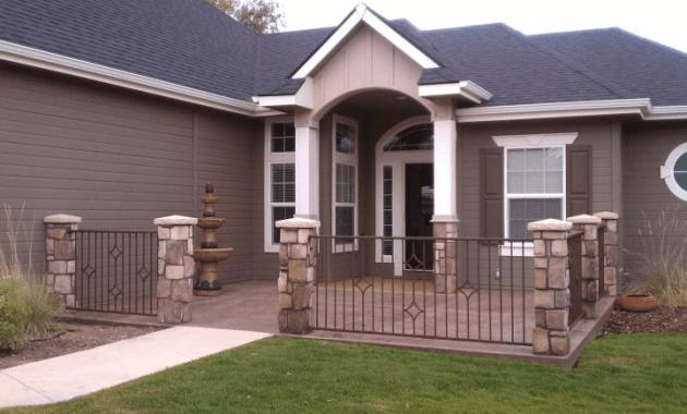 Aluminum front porch railing