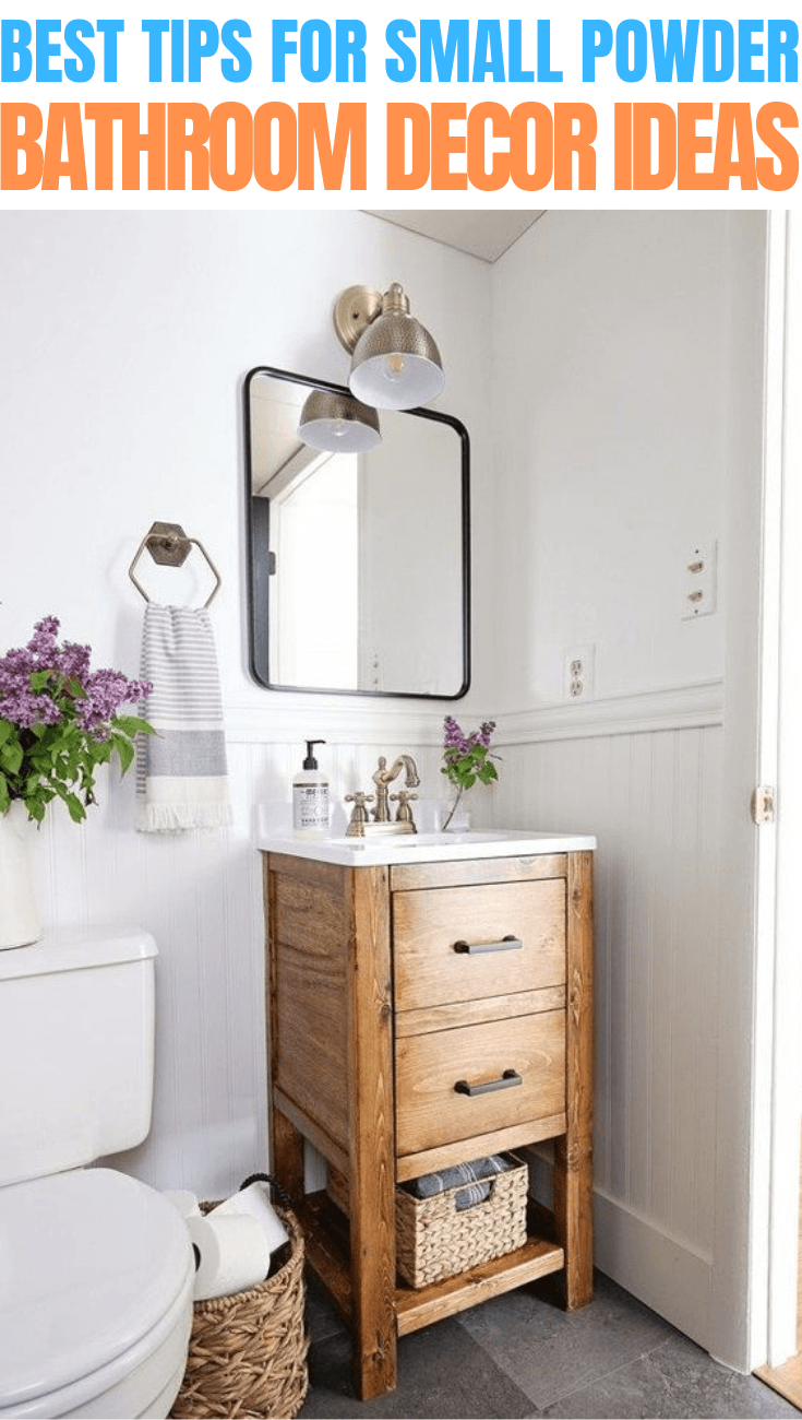 9 Tips on How to Decorate a Small Powder Bathroom