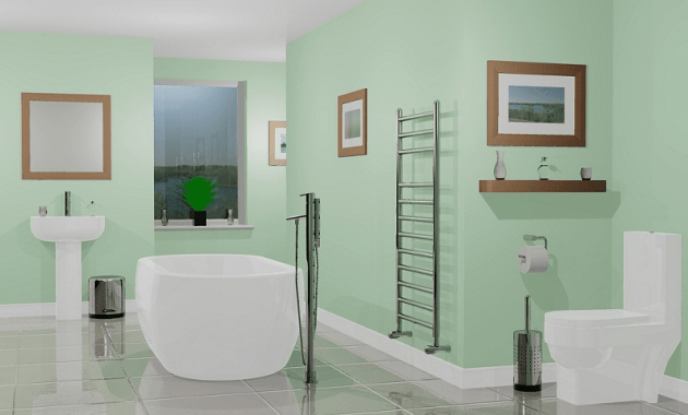 Bathroom paint colors green
