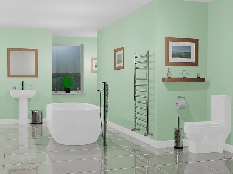 Bathroom paint colors green