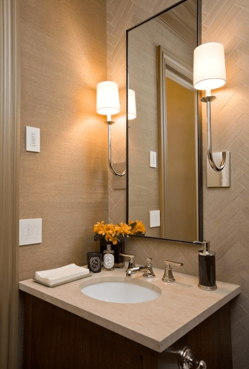 Bathroom vanities for small powder rooms