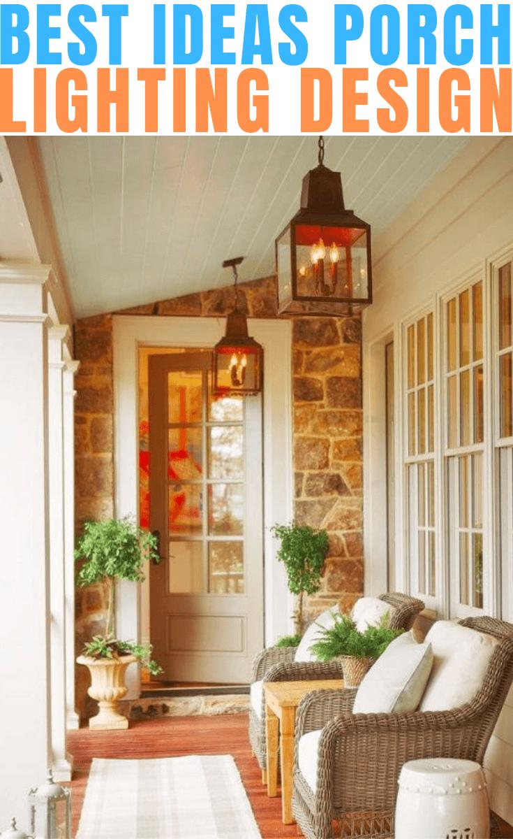 Best Ideas Porch Lighting Design