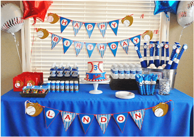 Birthday party decoration ideas for boy baseball theme