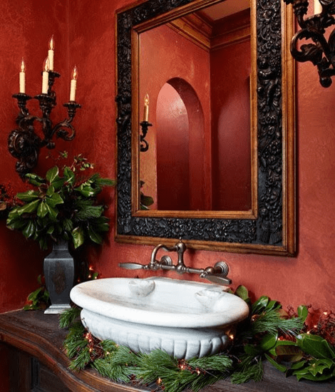 7 Ideas On How To Decorate A Small Bathroom For Christmas