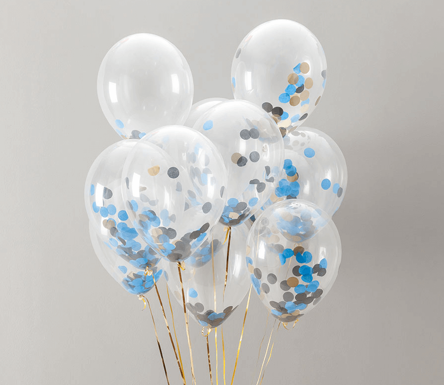 Confetti balloon kit for decorate a birthday party room
