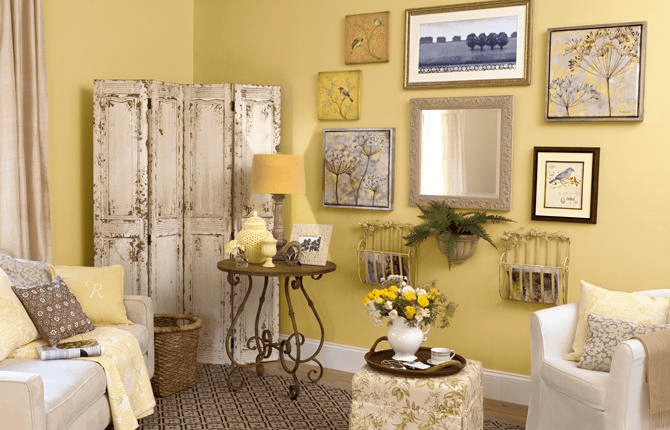 Decorate wall with mirrors