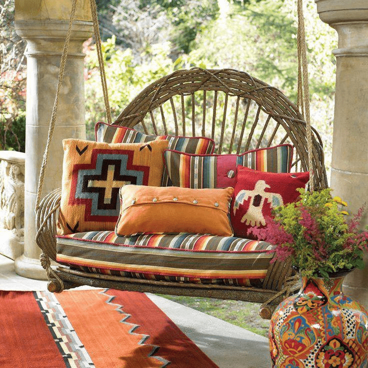 Decorative porch swings