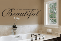 Different Ways How to Decorate a Bathroom Wall using typhography