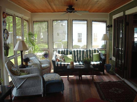 Fiberglass porch screen