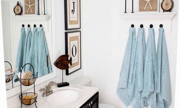 Hanging towels in bathroom ideas
