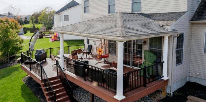 Hip porch roof framing