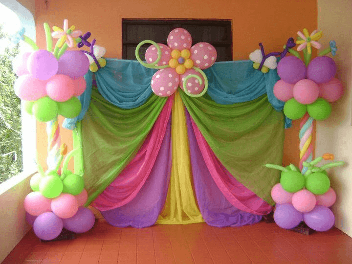 know how to decorate birthday party room with balloons