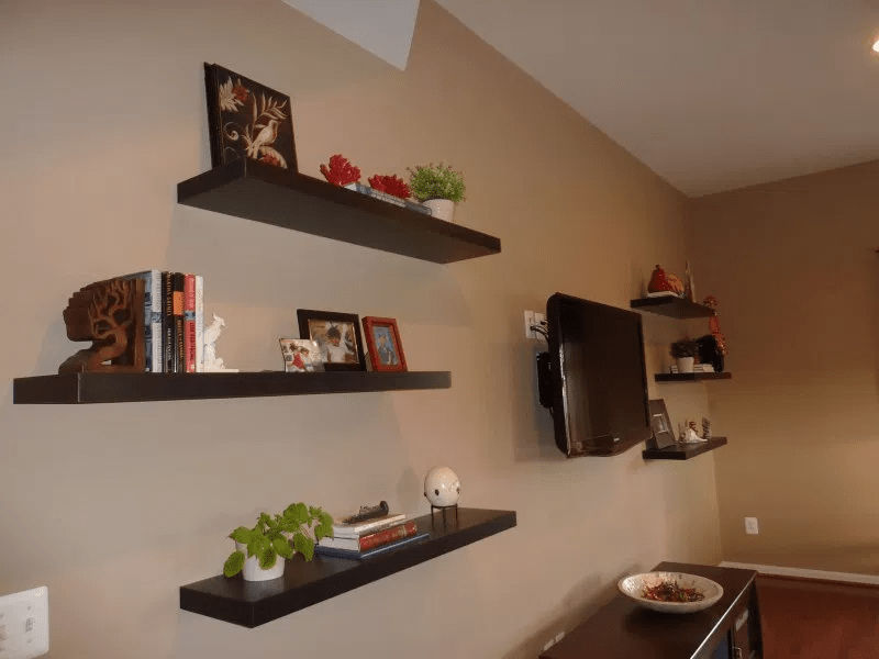 How To Decorate Hanging Shelves