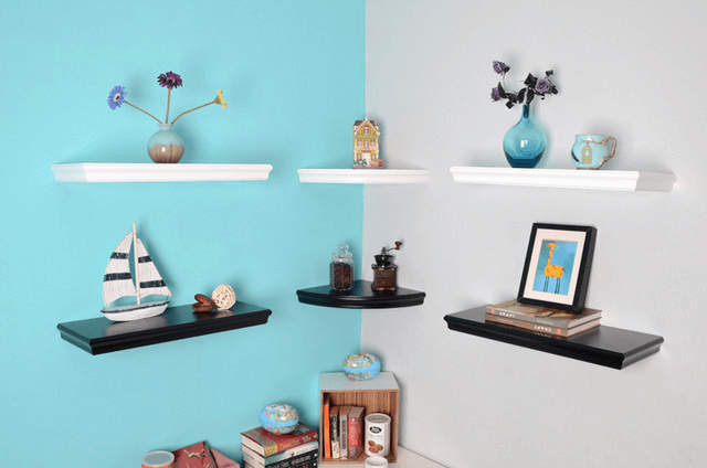 How to Decorate Corner Shelves