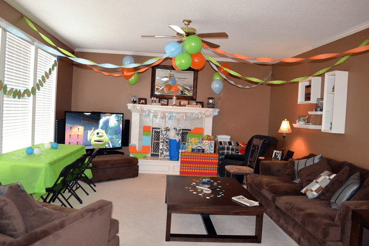 How to decorate living room for birthday party on budget for How decorate family room
