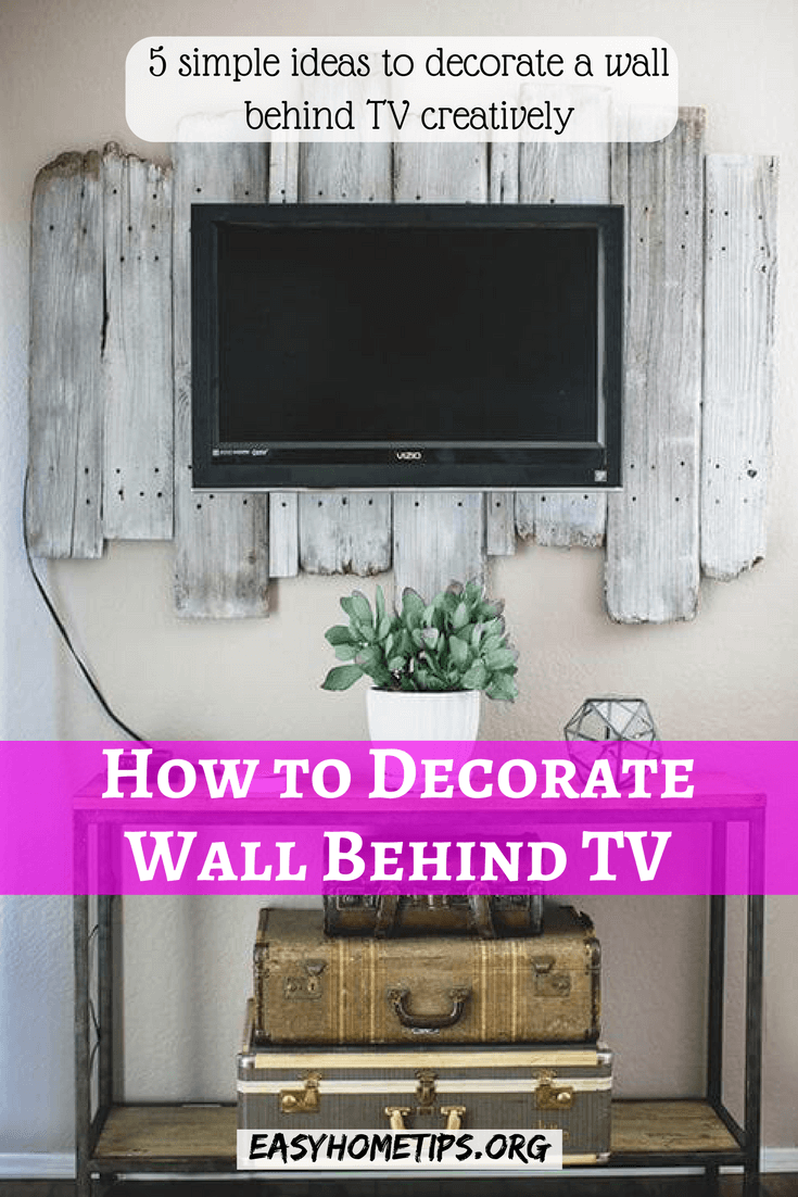 How To Decorate Living Room With Black Leather Couch: How To Decorate A Wall Behind A TV Creatively