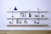 How to Decorate White Shelves